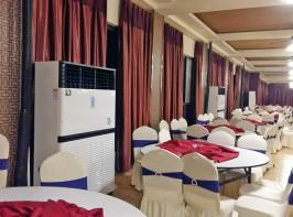 邹平县金河农家大院婚宴大厅、四川某酒店婚宴大厅,取暖制冷,室内温度 22-26℃